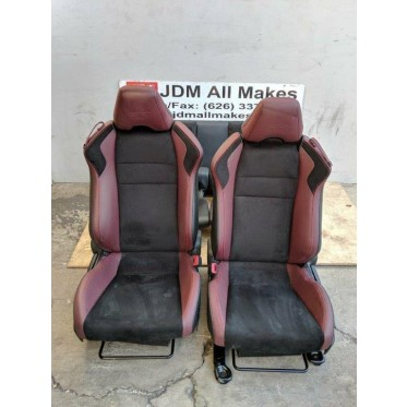 2017-2018 JDM SUBARU BRZ STI SUEDE LEATHER SEATS SET OEM JDM