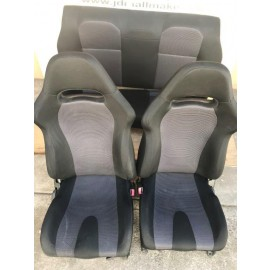 2000-07 Subaru Impreza WRX GDA GDB SEATS SET BLACK GRAY SEATS WITH RAILINGS JDM